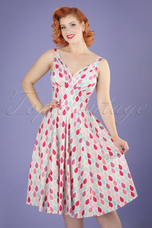 Miss Candyfloss Summer Leaf Swing Dress 102 59 20607 20170414 0015W