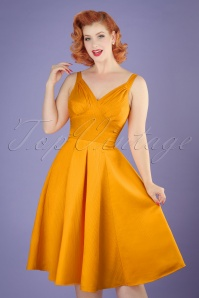 50s Odessa Swing Dress in Sun Yellow