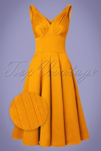 Miss Candyfloss TopVintage Exclusive Yellow Waffle Dress 102 80 20613 20170424 0004wv