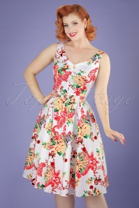 Hearts and Roses White Floral Swing Dress 102 59 21728 20170418 0013W