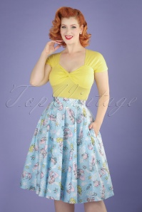Bunny Andrina 50s Pastel Blue Mermaid Skirt 122 39 21054 20170322 1W
