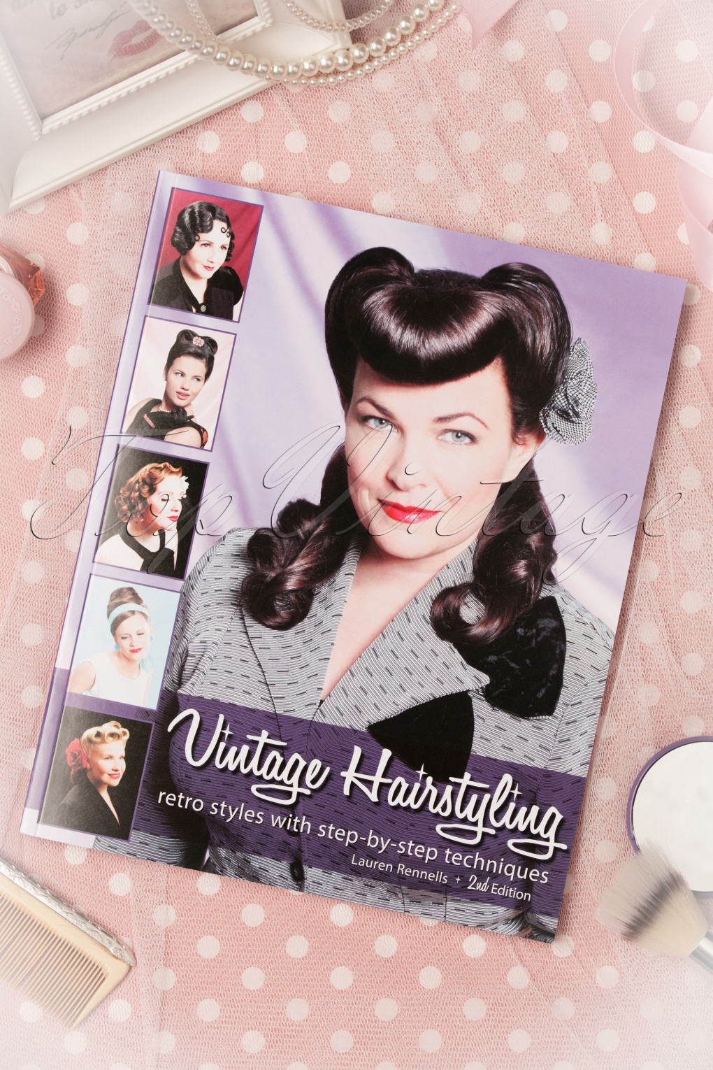 1940s Hairstyles- History of Women's Hairstyles Vintage Hairstyling Retro Styles With Step by Step Techniques 2nd edition £31.14 AT vintagedancer.com