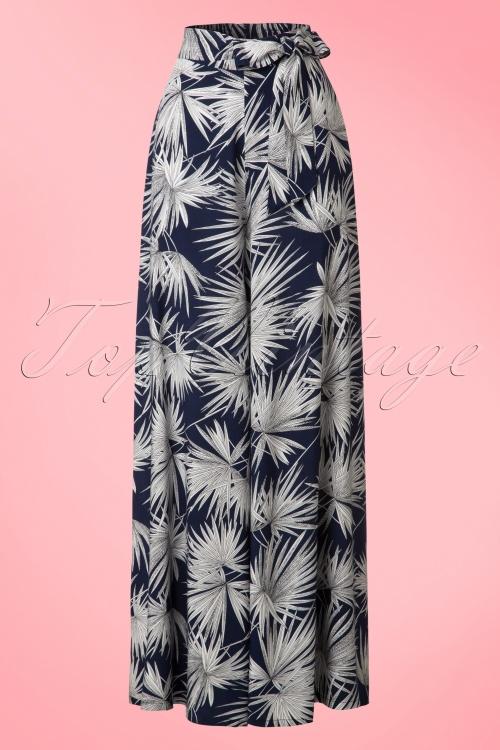 Collectif Clothing Akiko Palm Print Trousers 20761 20161201 0004W