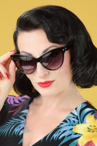 50s So Retro Great Cat Sunglasses in Black