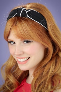 Banned Retro 50s South Branch Hairband in Black