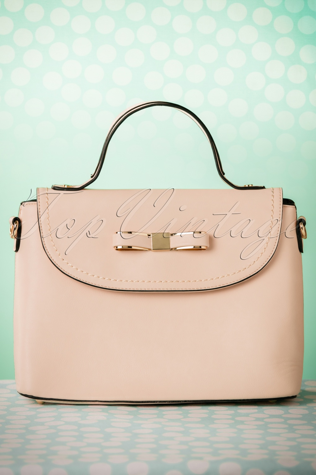 Retro Handbags, Purses, Wallets, Bags 50s Blair Bow Handbag in Pink £39.54 AT vintagedancer.com