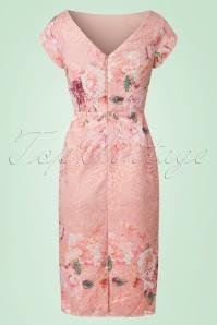 Little Mistress Pink Floral Lace Pencil Dress 100 29 21809 20170530 0008W