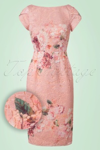 Little Mistress Pink Floral Lace Pencil Dress 100 29 21809 20170530 0003W1