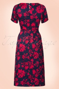 Dolly & Dotty Navy and Red Floral Dress 100 39 20722 20170529 0010w