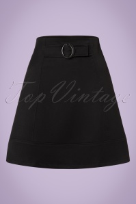 60s Colleen A-Line Skirt in Black