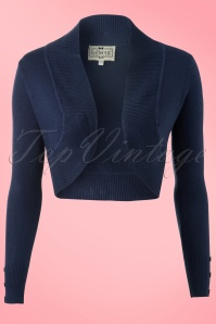 Collectif Clothing  Jean knitted Bolero in Navy 12550 20140217 0003W