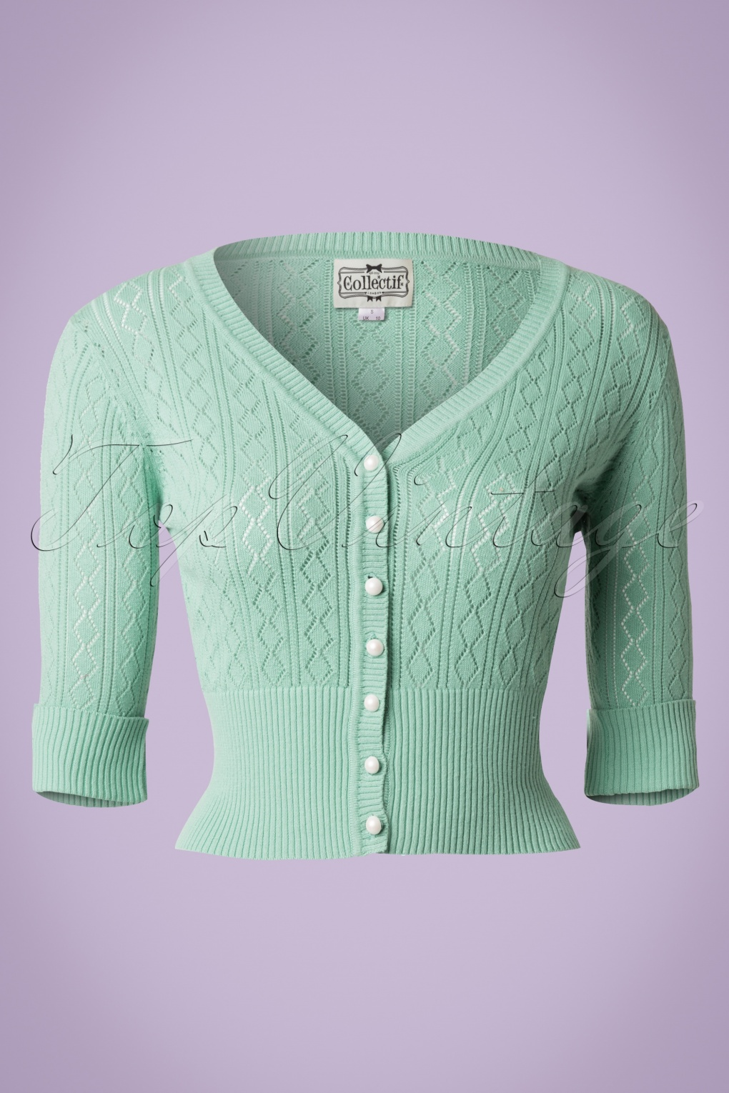 Vintage & Retro Shirts, Halter Tops, Blouses 50s Linda Cardigan in Antique Green £34.46 AT vintagedancer.com