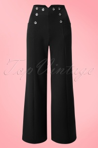 Banned Retro 40s Stay Awhile Trousers in Black