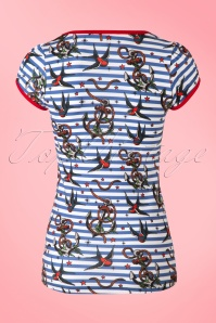 Sassy Sally Anchors and Swallows T Shirt 111 39 16452 20150911 005W