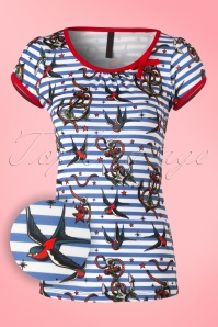 Sassy Sally Anchors and Swallows T Shirt 111 39 16452 20150911 001W2