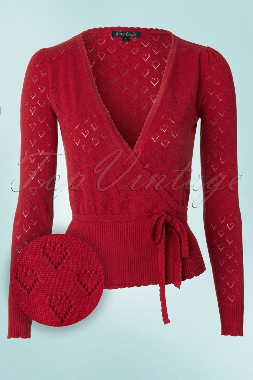 King Louie  Wrap Heart Cardigan Red 110 27 12278 20140115 0004b