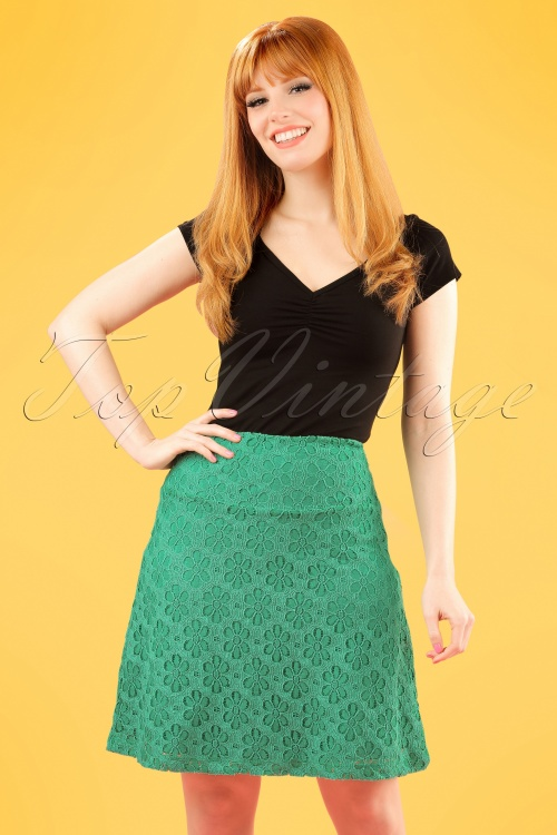 WKing Louie Border Skirt in Green 123 40 20226 20170213 0003v2W