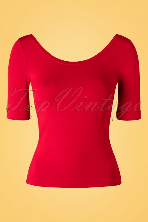King Louie Ballerina Top Red 111 20 16564 20160112 0002W