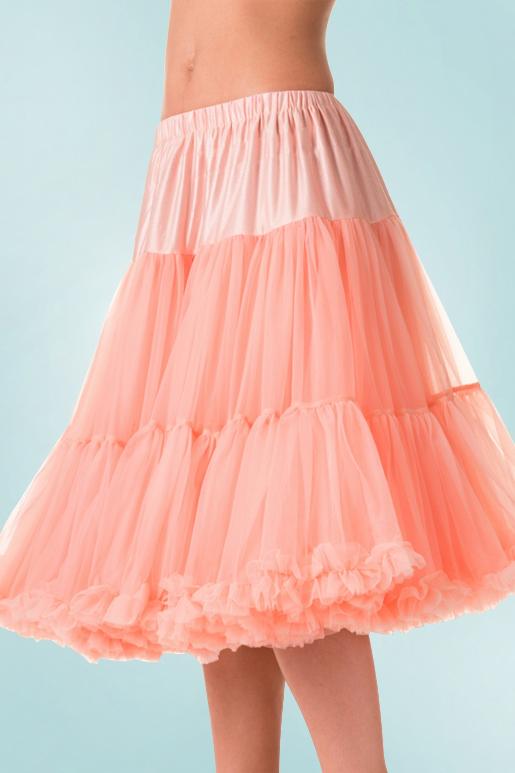 Vintage Inspired Lingerie 50s Lola Lifeforms Petticoat in Salmon Pink £43.94 AT vintagedancer.com