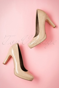 Tamaris Cream Patent Pump 400 51 21534 06062017 014W