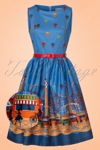 Lindy Bop Audrey Blue Fairground Dress 102 39 22208 20170530 0001wv
