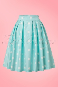 Lindy Bop Polkadot Veronika Swing Skirt in Mint  20170531 0012W