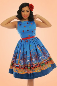 Lindy Bop Audrey Blue Fairground Dress 102 39 22208 20170530 0004