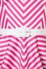 Vixen by Micheline Pitt Dollface Swing dress in Pink Stripes 102 29 21940 20170607 0003