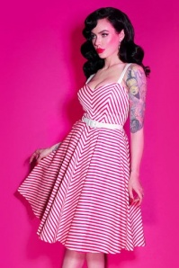Vixen by Micheline Pitt Dollface Swing dress in Pink Stripes 102 29 21940 20170607 1