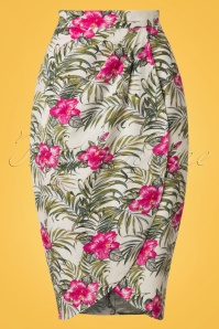 Collectif Clothing Kala Tropical Hibiscus Sarong Skirt 20659 20161130 0001W