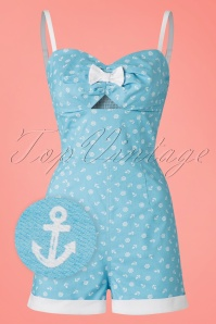 Collectif Clothing Ariel Nautical Playsuit in Bluie 20703 20161125 2wv