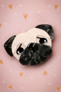 60s Pierre's Pug Life Brooch