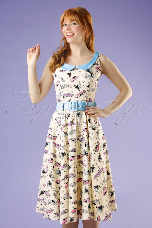 Collectif Clothing Kitty 50s Car Swing Dress 20694 20161129 0022W