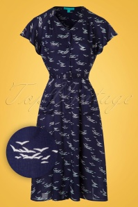 Fever Padstow Dress in Navy 102 39 20073 20170329 0004c