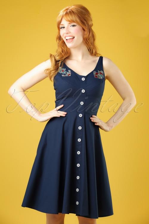 Bunny Sela Dress in Navy Blue 102 31 21069 20170322 0013W