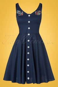 Bunny Sela Dress in Navy Blue 102 31 21069 20170322 0004W