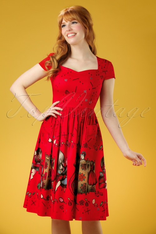 Dancing Days by Banned Meadows Red Swing Dress 102 27 20952 20170316 00010W