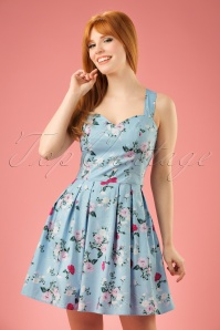 Bunny Belinda Mini Blue Floral Dress 102 39 18226 20160304 009w