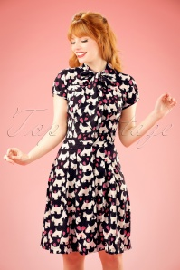 50s Aggy Doggy Dress in Black