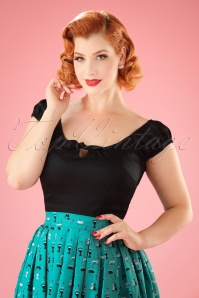 Collectif Lorena Plain Top in Black 110 10 21474 20170515 1W