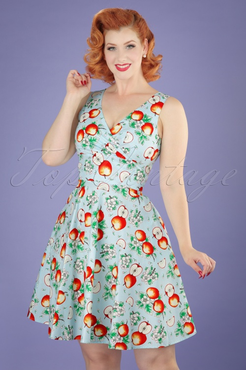 Bunny Sommerset Blue Apple Swing Dress 102 39 21130 20170406 0009W