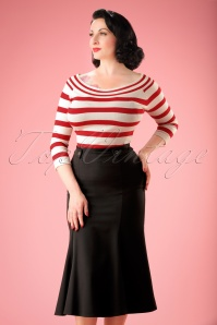 40s Personified Elegance Skirt in Black