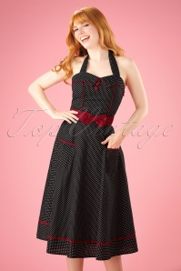 Dancing Days By Banned Star Crossed Polkadot Swing Dress 102 14 20897 20170503 1W
