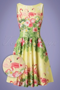 Lady V A Yellow Flamingo Tea Dress 102 89 21794 20170510 0014wv
