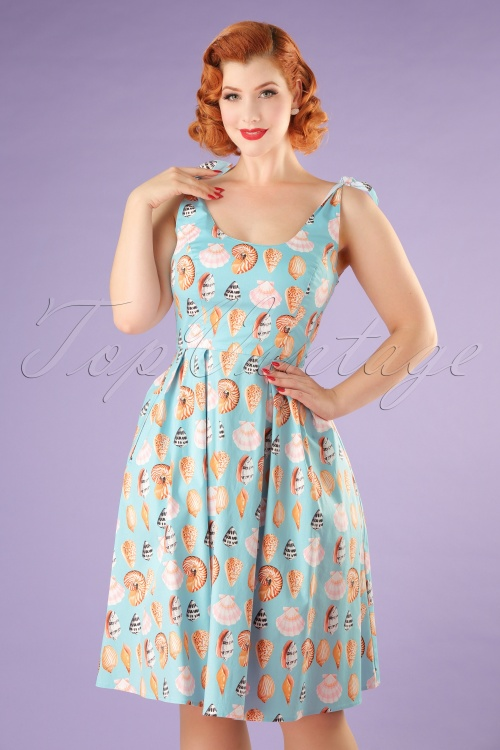 Bunny Maya Bay 50s Blue Seashell Dress 102 39 21037 20170323 00010W