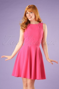 Vintage Chic super crepe Hot Pink Dress 102 22 20989 05W