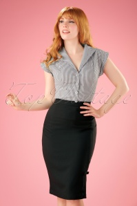 50s Ashcott Pencil Skirt in Black