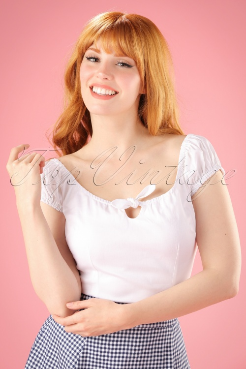 Collectif Lorena Plain Top in White 110 50 21475 20170515 013W