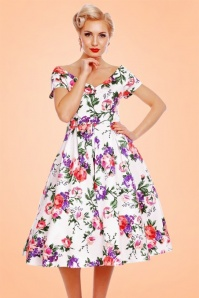 Dolly and Dotty White Floral Swing Dress 102 59 22106 20170619 01
