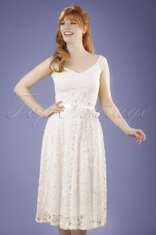 Vintage Chic Lace Off White Dress 102 50 21657 20170620 0009W